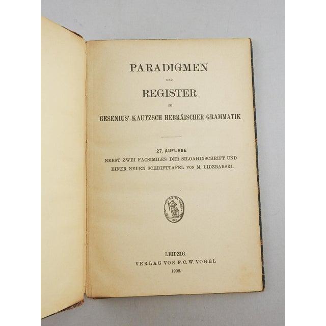 1902 Hebrew Grammar in German Book - Image 3 of 5