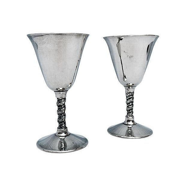 Yugoslavian Silver Plate Goblets - Image 2 of 4