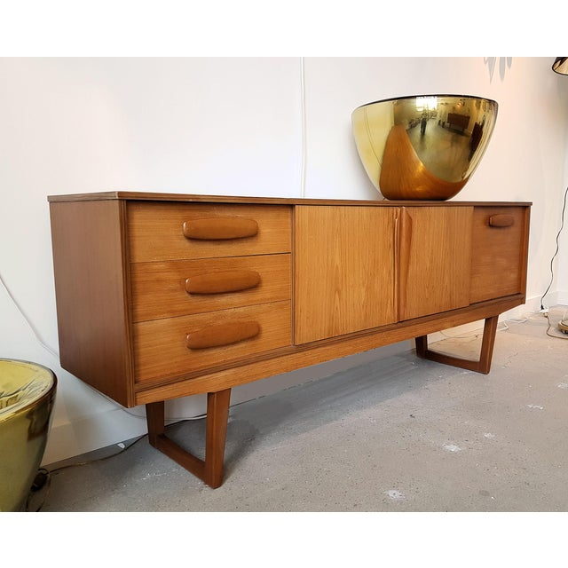 Mid Century Modern Danish Clear Cherrywood Buffet, Credenza, 1960s For Sale - Image 4 of 9