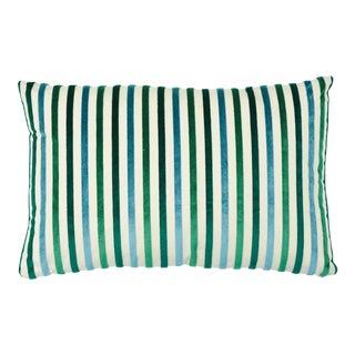 Schumacher Le Matelot Lumbar Pillow in Peacock For Sale