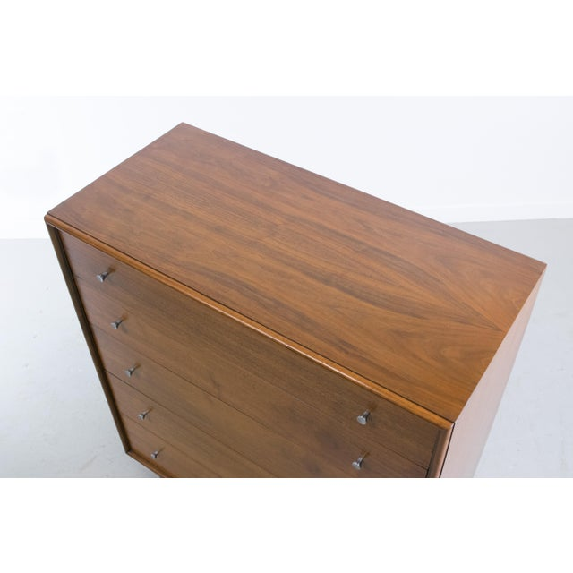 Brown Mid-Century Modern Walnut Chest of Drawers by Ramseur For Sale - Image 8 of 11