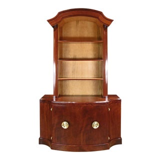 Paul Frankl 1950s Mahogany Bookcase Cabinet For Sale