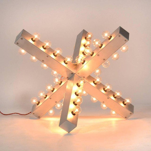Silver Intersection Lamp by Downtown For Sale - Image 8 of 11