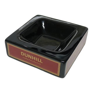 Vintage Mid Century Dunhill Ceramic Lounge Ashtray For Sale