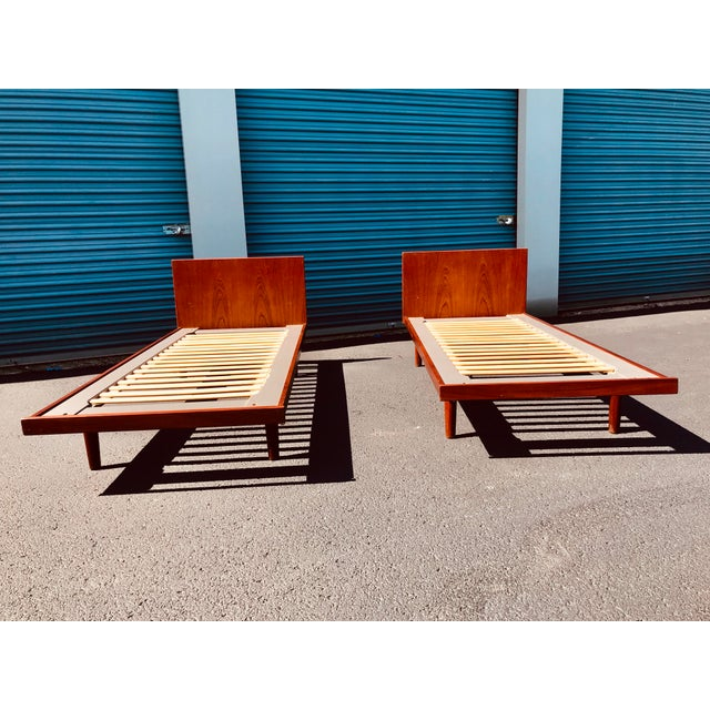 Hans Wegner European Twin Hans Wegner Platform Bedframes - a Pair For Sale - Image 4 of 10