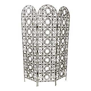 Vintage Transitional Hand Forged Iron Screen/Room Divider For Sale