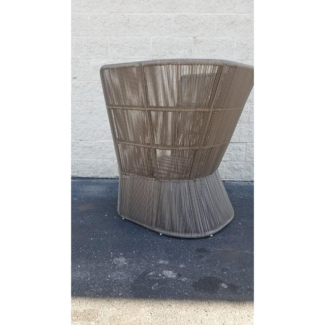 Restoration Hardware Havana Fan Chair For Sale In Chicago - Image 6 of 9