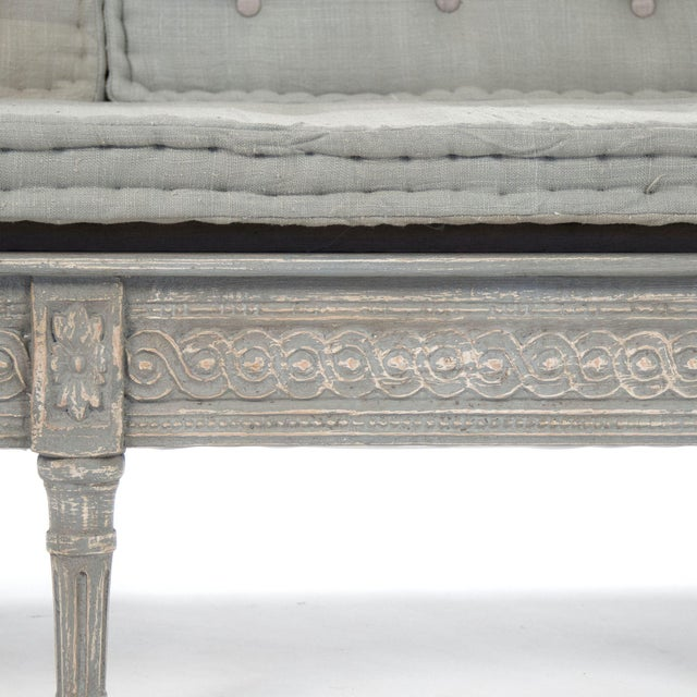 Ridgeway Bench in Slate Gray For Sale - Image 4 of 6