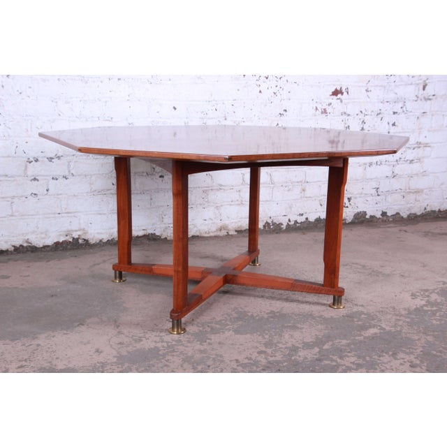 Mid-Century Modern Edward Wormley for Dunbar Janus Collection Game Table For Sale - Image 3 of 12