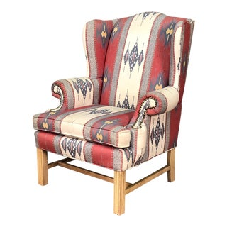 Southwestern Style Wing Back Lounge Chair - Cowboy Chic