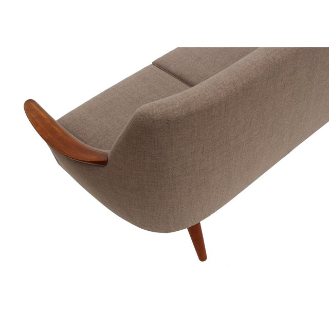 Norwegian Sofa with Sculpted Solid Teak Details For Sale - Image 11 of 12