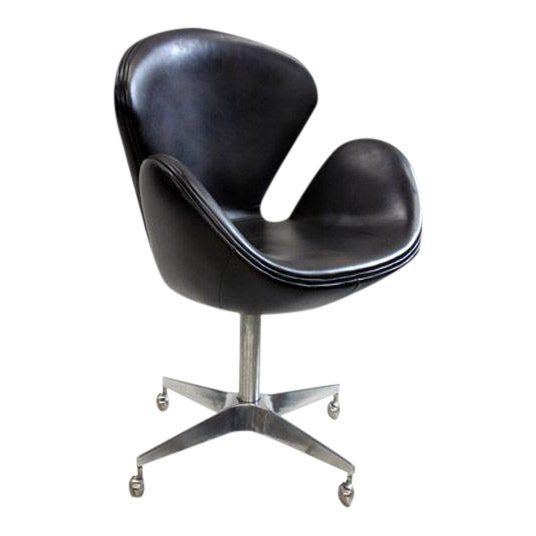 Cool Arne Jacobsen Reproduction Swan Brown Leather Chair Pabps2019 Chair Design Images Pabps2019Com