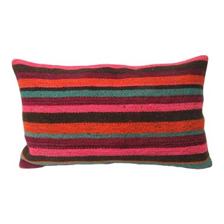 "Vintage Turkish Kilim Pillow Cover - 20"" x 12"" For Sale"