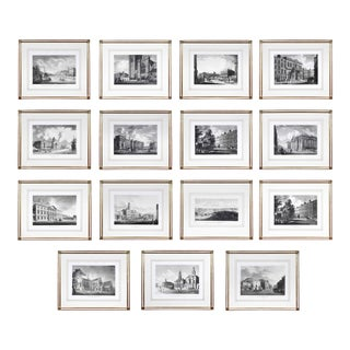 Engraved Views of Dublin Ireland by James Malton - Set of 25 For Sale
