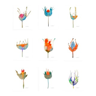 Botanical Set of 9 Giclee Prints Set of 9 For Sale