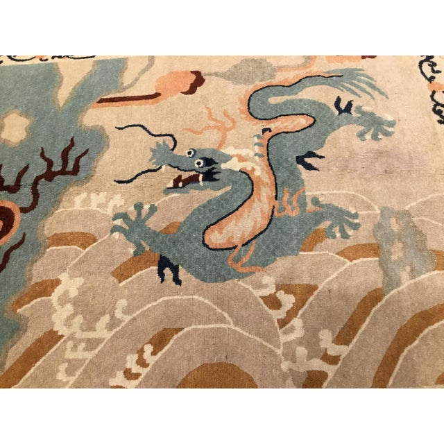 1920s Chinese Peking Rug Dragon Rug-5′2″ × 8′8″ For Sale - Image 4 of 6