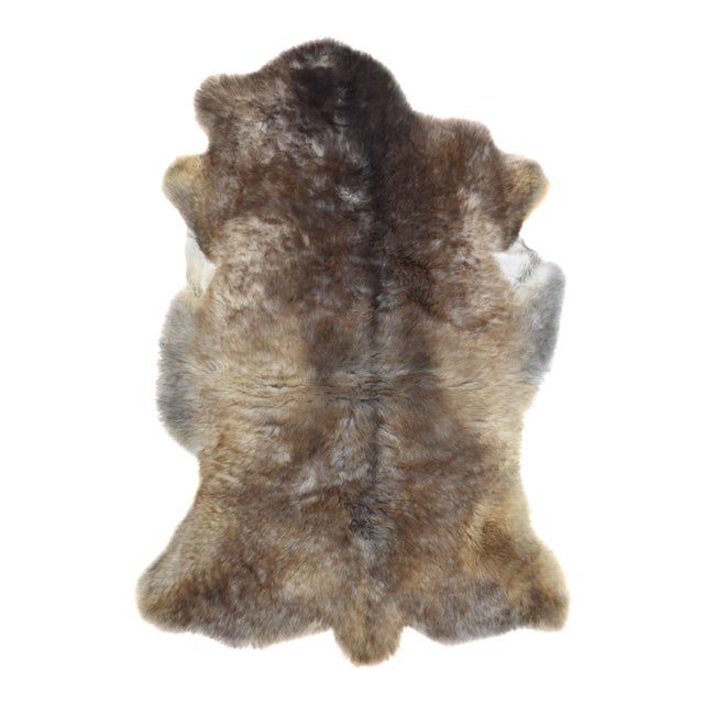 "Wool Sheepskin Pelt Handmade Rug - 2'6"" x 3'8"" - Image 1 of 8"