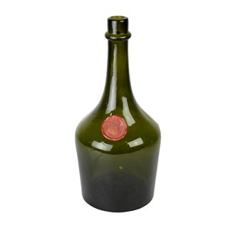 Vintage French Green Liquor Bottle