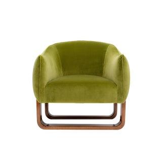 Marie Burgos Design Green Milo Armchair For Sale