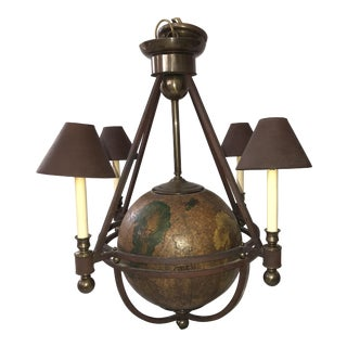Continental 4 Light World Globe Chandelier