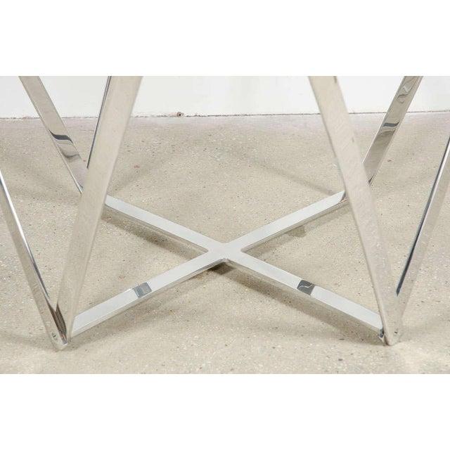 Aluminum John Vesey Aluminum Spool Lamp Table For Sale - Image 7 of 8