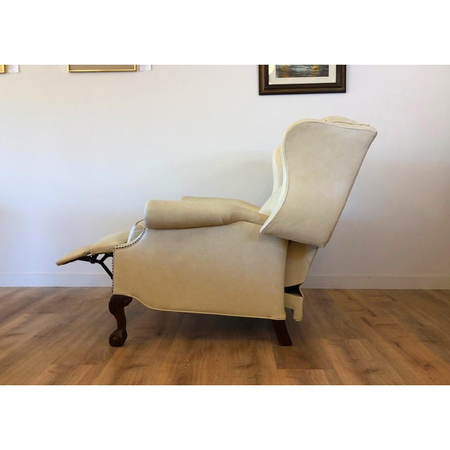 Vintage Bradington Young Leather Wingback Recliner For Sale In Seattle - Image 6 of 13