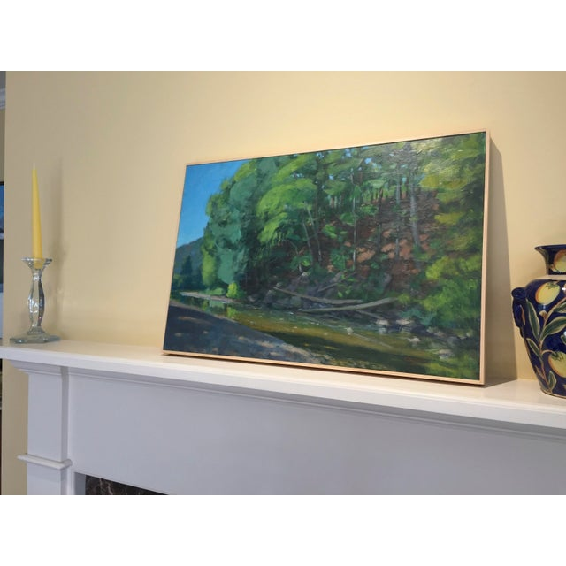 2010s Original Painting of a River in Vermont For Sale - Image 5 of 6