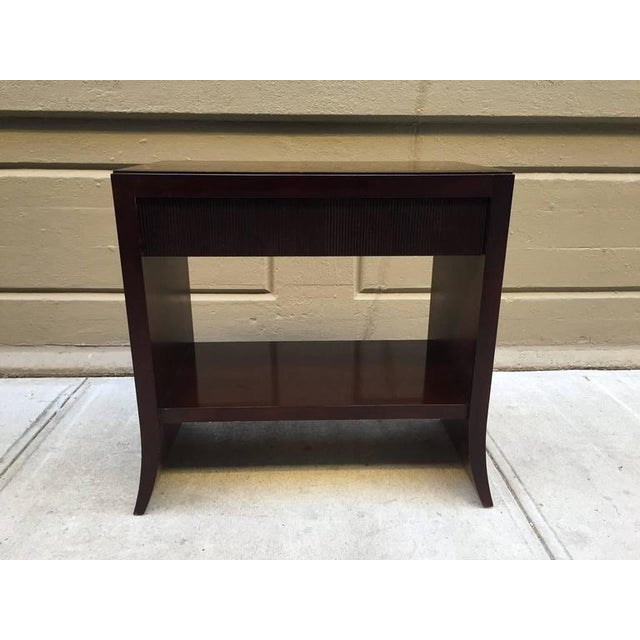 Barbara Barry Console table for Baker Furniture Company. Console is mahogany and has a single pull out drawer.