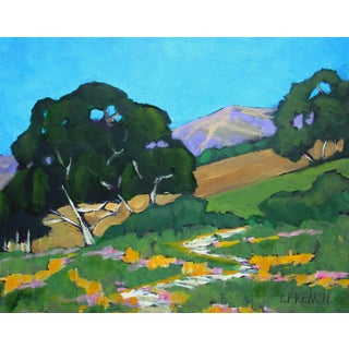 Contemporary Santa Cruz Foothill Path California Landscape Lynne French For Sale