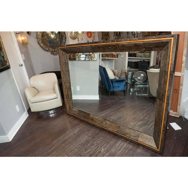 Coco Shell and Parchment Mirror For Sale - Image 10 of 10