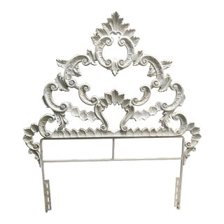 Gothic Wrought Iron Twin Headboard For Sale