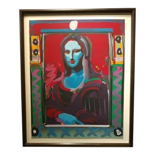 Peter Max - Mona Lisa - Original Serigraph For Sale