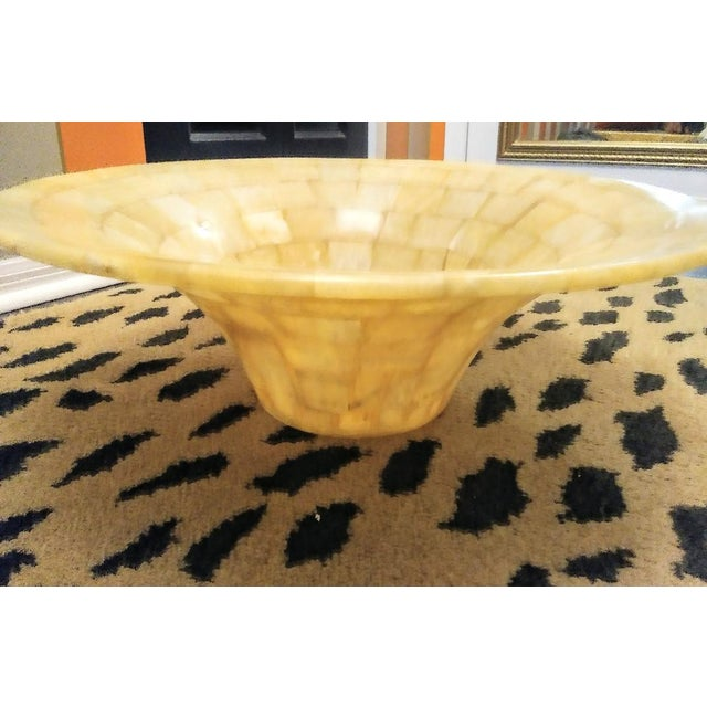 Modern Tessellated Natural Stone Vessel Above Vanity Sink For Sale - Image 3 of 8