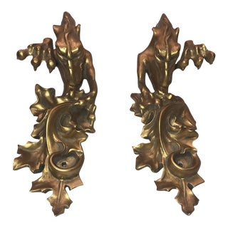 Gilt Dragon Brackets - A Pair