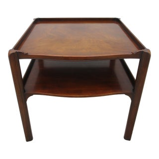 Baker Square Two Tiered Side Table For Sale