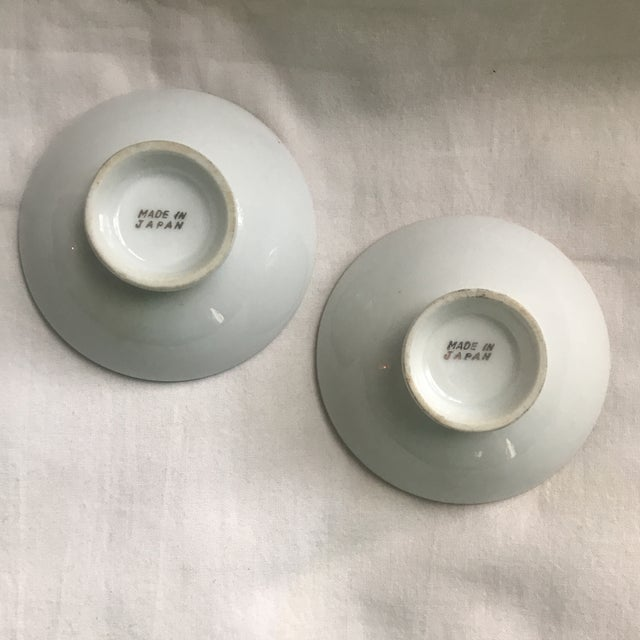 Mid-Century Modern Mid-Century Japanese Gilded Porcelain Bowls - a Pair For Sale - Image 3 of 4