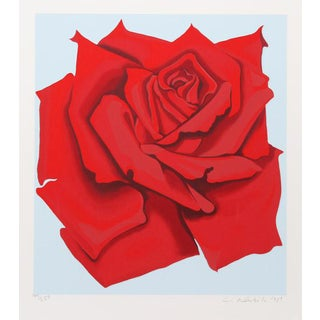 """""""Red Rose From the Stamps Series"""" Print For Sale"""