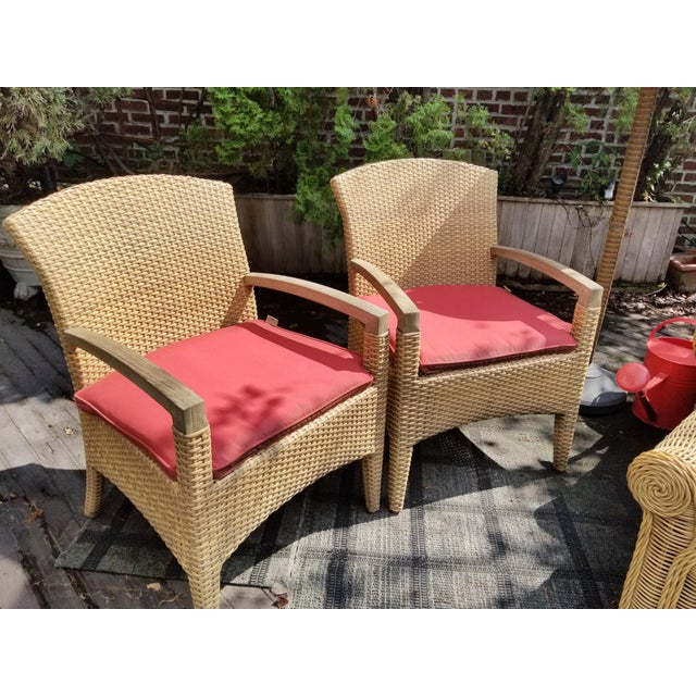 Gloster Gloster Plantation Outdoor Dining Armchairs - a Pair For Sale - Image 4 of 9