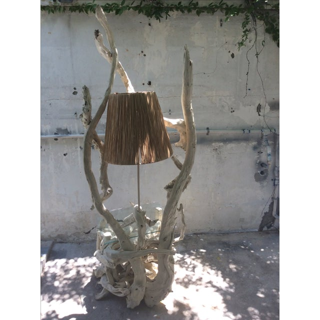 Mid Century Modern Driftwood Sculptural Table Lamp - Image 7 of 8