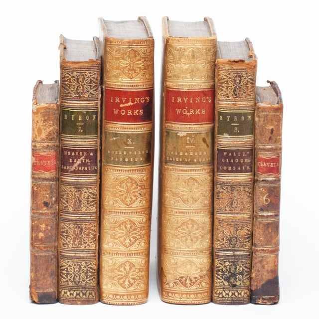 Yellow 18th Century American Classical Antique Book Bookends - a Pair For Sale - Image 8 of 10
