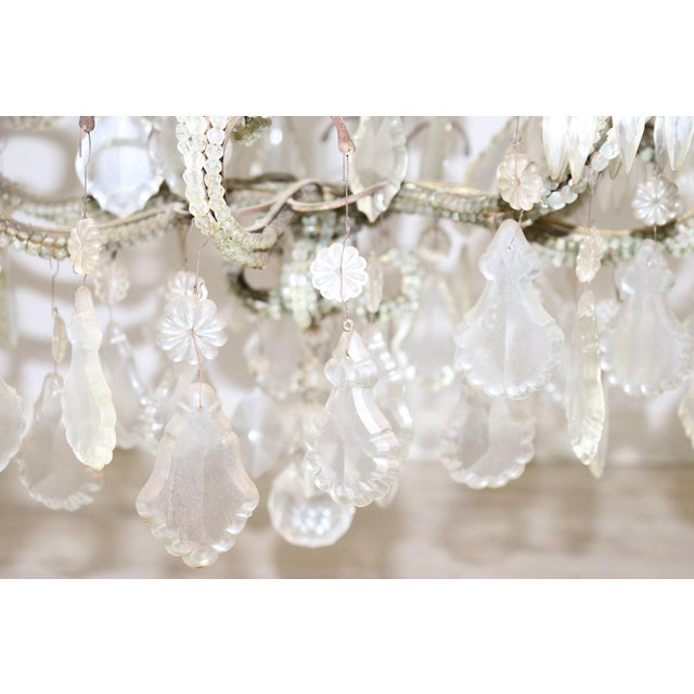 Late 19th Century 19th Century Italian Louis XVI Style Bronze and Crystals Swarovski Chandelier For Sale - Image 5 of 9