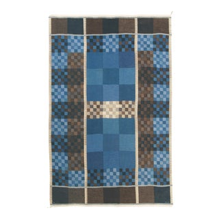 Swedish Flat Weave Rug by Ingrid Dessau- 6′ × 9′4″ For Sale