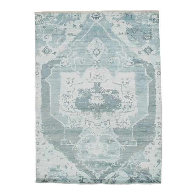 Pasargad N Y Modern Bamboo Silk Hand Knotted Area Rug - 5′8″ × 7′8″ For Sale In Washington DC - Image 6 of 6