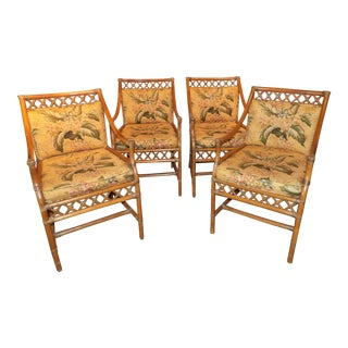 Late 20th Century Vintage and Classic Bamboo Dining Chairs - Set of 4 For Sale