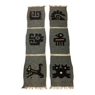 Vintage Mexican Weavings - A Pair