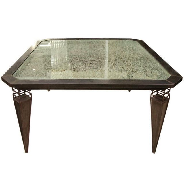 Late 20th Century Kuramata Inspired Handcrafted Modern Industrial Italian Dining / Center Table For Sale - Image 5 of 5