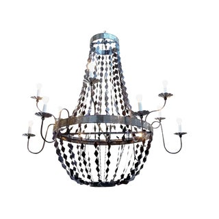 Metal & Mirror Margaret Chandelier For Sale