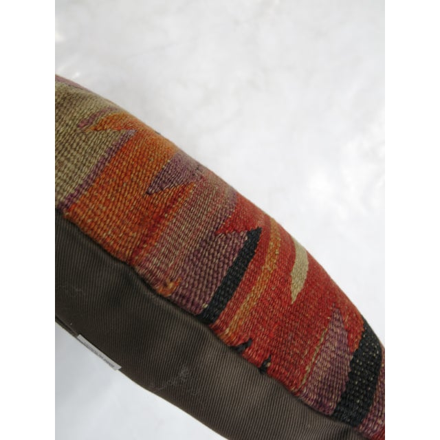 Rustic Turkish Kilim Pillow For Sale - Image 3 of 3
