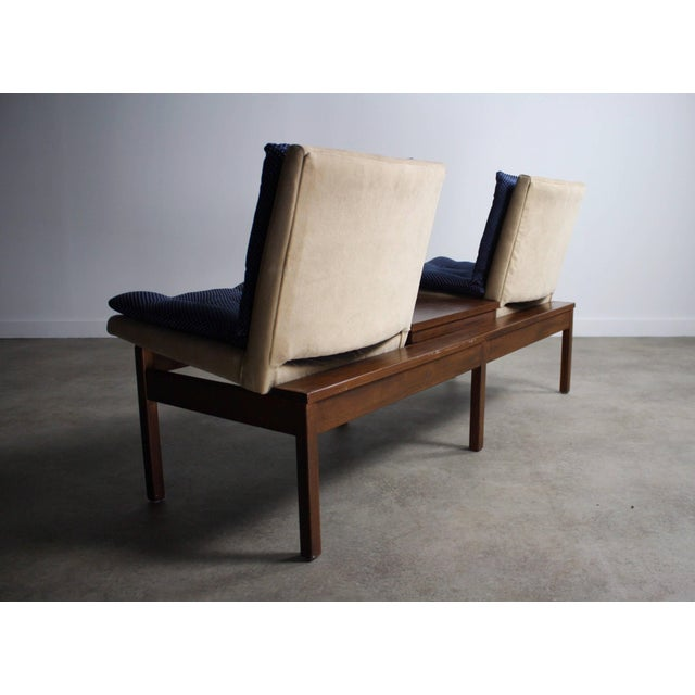 Danish Modern Arthur Umanoff Modular Walnut Bench Seating for Madison Furniture Co. For Sale - Image 3 of 5