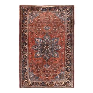 Antique Red Bijar Persian Area Rug For Sale
